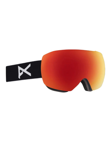 Image of Anon MiG MFI Ski Goggles w/ Integrated Facemask-Black / Sonar Red Lens-aussieskier.com