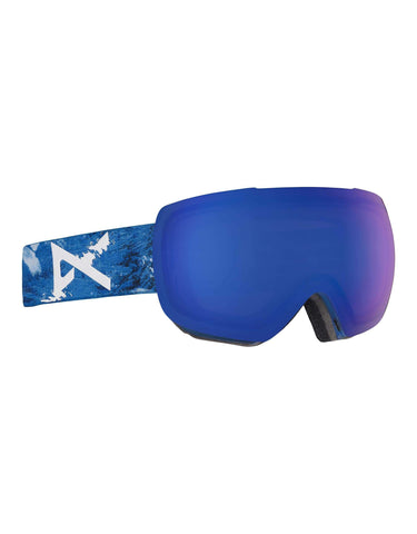 Anon MiG MFI Ski Goggles w/ Integrated Facemask-Hiker Blue / Sonar Blue Lens-aussieskier.com