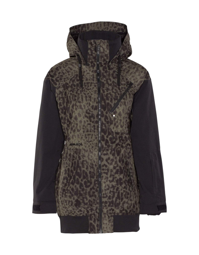 Armada Womens Gypsum Ski Jacket-X Small-Jungle Cat-aussieskier.com