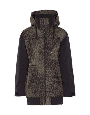 Image of Armada Womens Gypsum Ski Jacket-X Small-Jungle Cat-aussieskier.com