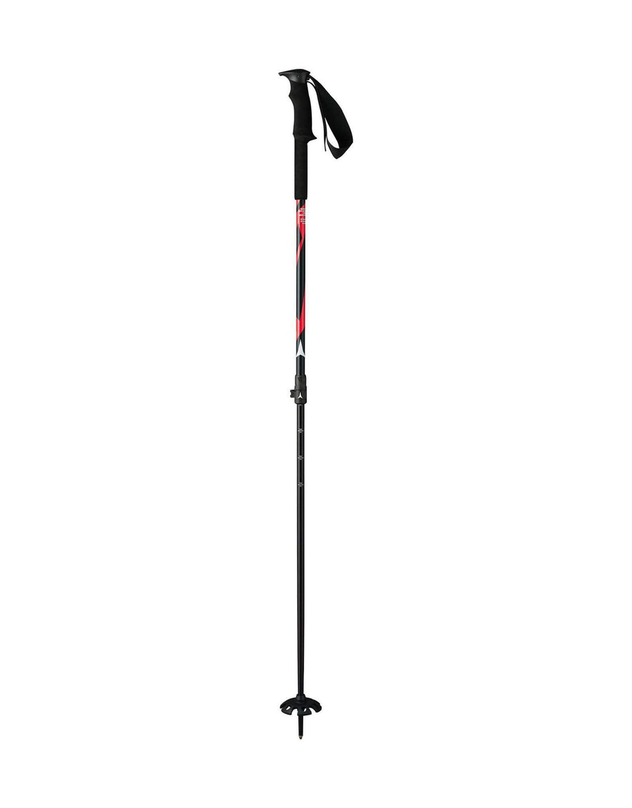 Atomic BCT Adjustable Ski Poles-Black / Red-aussieskier.com