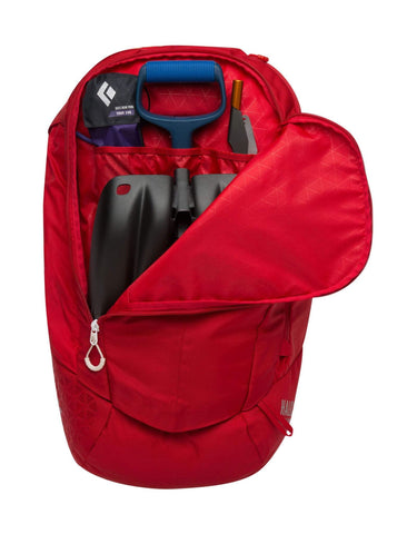 Black Diamond Halo 28 Jetforce Avalanche Airbag Backpack-Medium/Large-Red-aussieskier.com