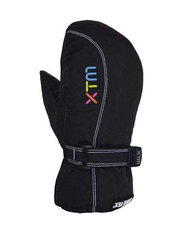 Image of XTM Buttermilk Gore-Tex Kids Mittens-Large-Black-aussieskier.com