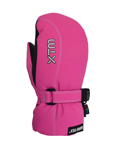 XTM Buttermilk Gore-Tex Kids Mittens-Large-Hot Pink-aussieskier.com