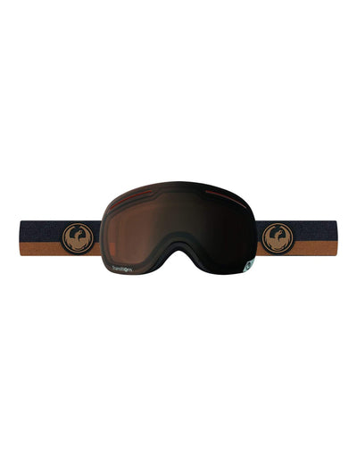 Dragon X1 Ski Goggles-Flux Brown / Transitions Amber Lens-aussieskier.com