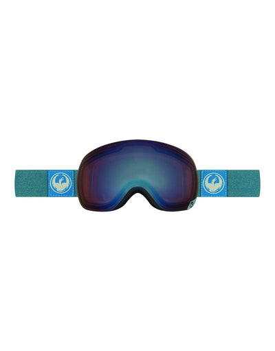 Dragon X1 Ski Goggles-Hone Blue / Optimized Flash Blue + Optimized Flash Green Spare Lens-aussieskier.com