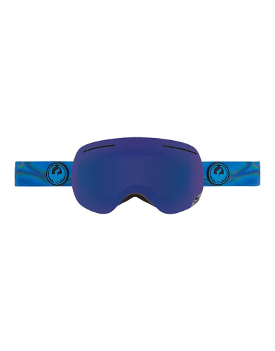Dragon X1 Ski Goggles-Spill / Dark Smoke Blue Lens + Yellow Red Ion Spare Lens-aussieskier.com