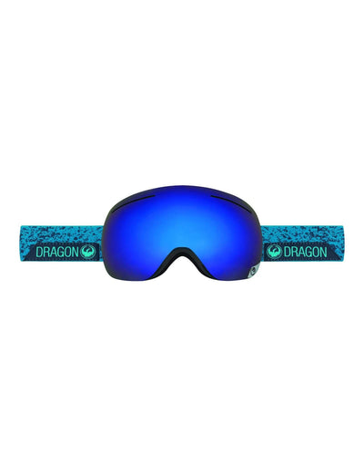 Dragon X1 Ski Goggles-Stone Blue / Dark Smoke Blue Lens + Yellow Red Ion Spare Lens-aussieskier.com