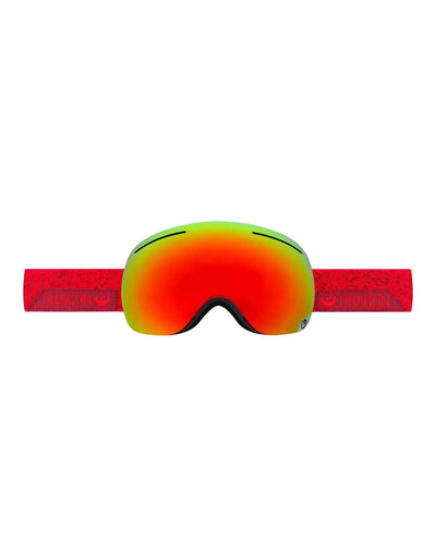 Dragon X1 Ski Goggles-Stone Red / Red Ion Lens + Yellow Red Ion Spare Lens-aussieskier.com
