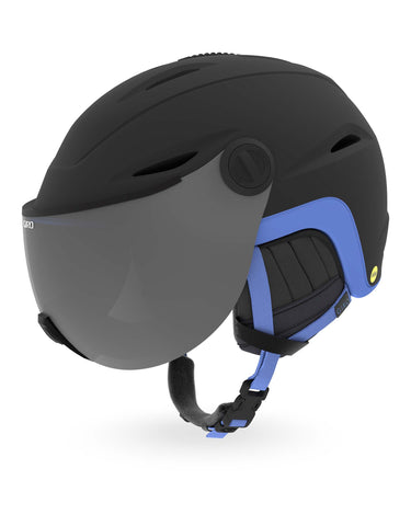 Image of Giro Essence MIPS Womens Visor Ski Helmet-Small-Matte Black / Electric Petal-aussieskier.com