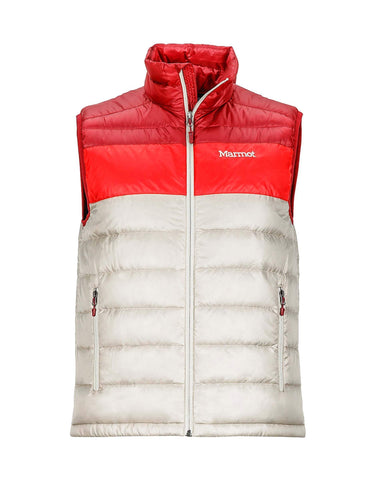 Image of Marmot Ares Mens Vest-Medium-Pebble / Brick-aussieskier.com
