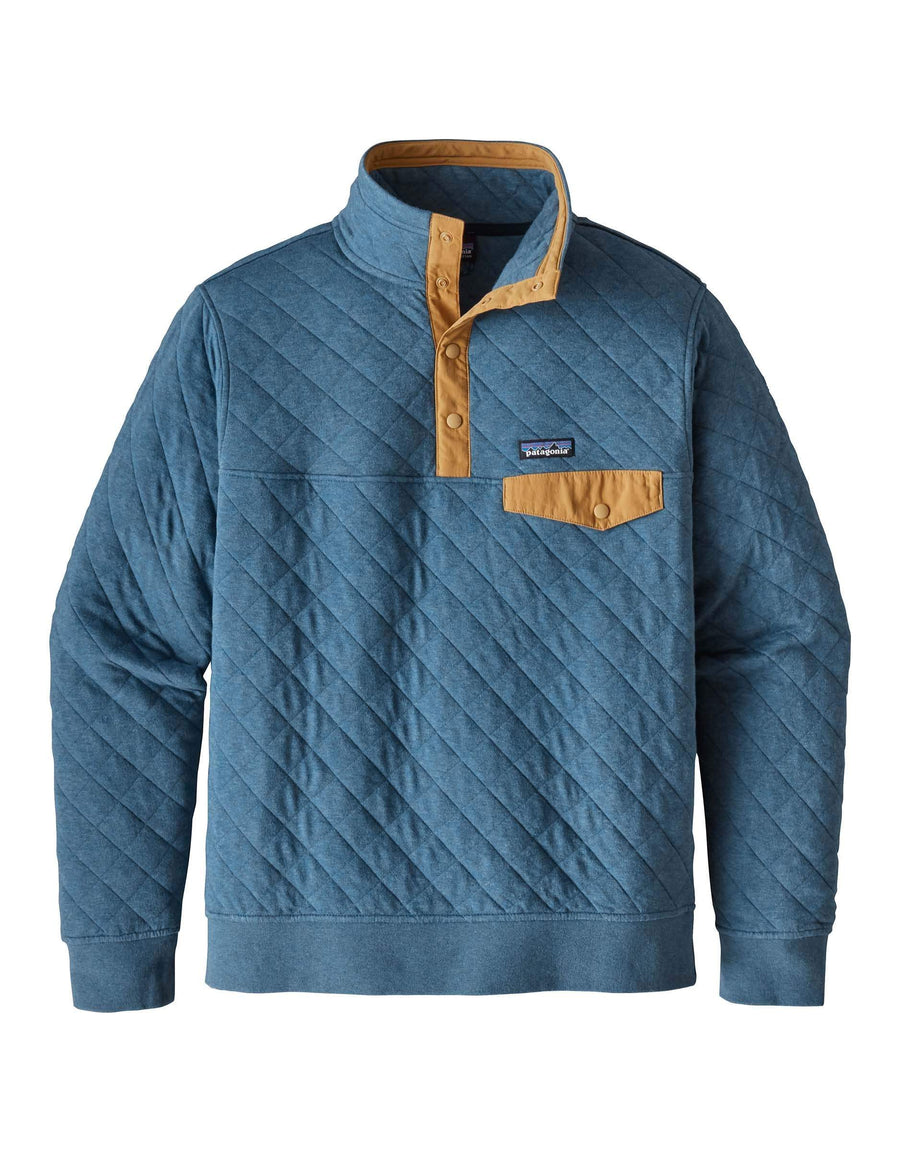 Patagonia Mens Cotton Quilt Snap-T Pullover-Small-Bay Blue-aussieskier.com