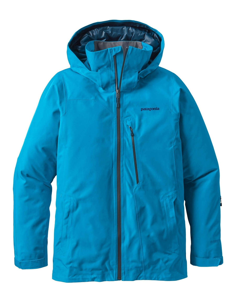 Patagonia Mens Insulated Powder Bowl Ski Jacket-Medium-Grecian Blue-aussieskier.com