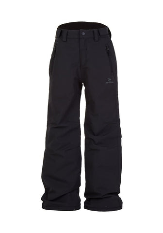 Image of Rip Curl Base Junior Ski Pants-2-Jet Black-aussieskier.com