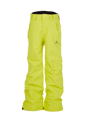 Image of Rip Curl Base Junior Ski Pants-8-Sulfur Green-aussieskier.com