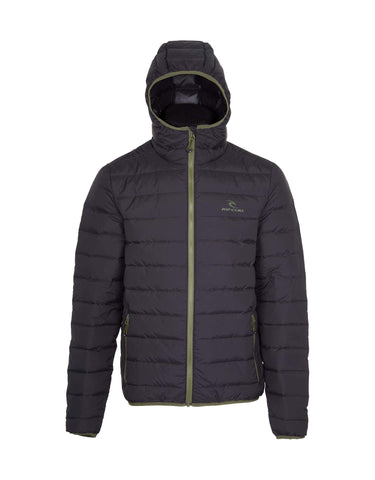 Image of Rip Curl Hi-Down Puffer Jacket-X Small-Jet Black-aussieskier.com