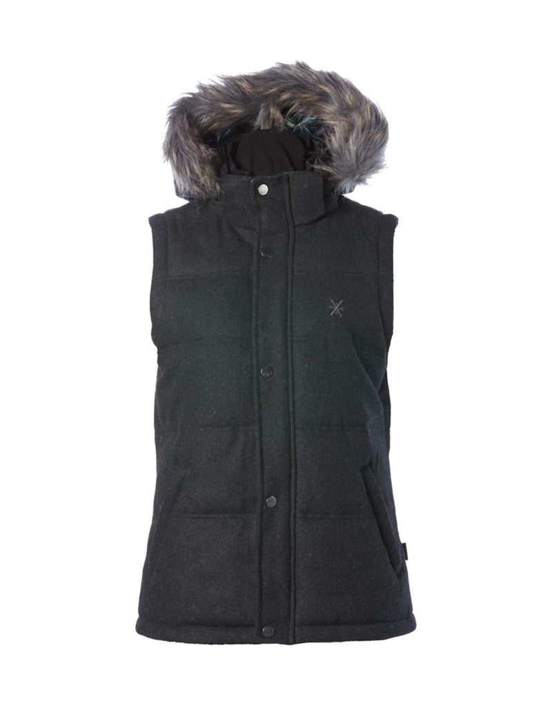 Rojo Chalet Womens Vest-8-True Black Heather-aussieskier.com