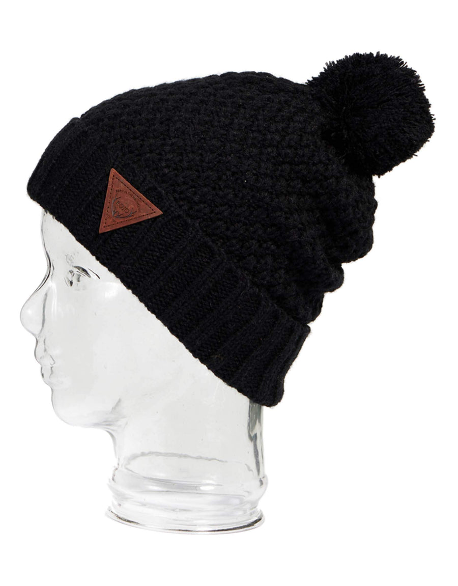 Rojo Cosmo Womens Knitted Beanie-Marshmallow-aussieskier.com
