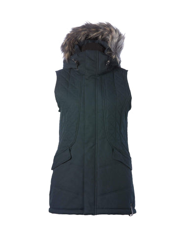 Image of Rojo Garnet Womens Vest-8-True Black-aussieskier.com