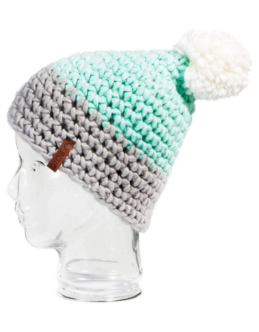 Image of Rojo Twin Tip Womens Knitted Beanie-Glass-aussieskier.com