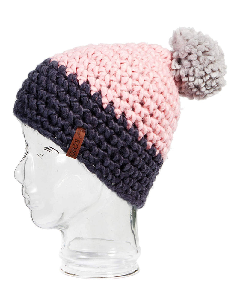 Rojo Twin Tip Womens Knitted Beanie-Shadow Pink-aussieskier.com