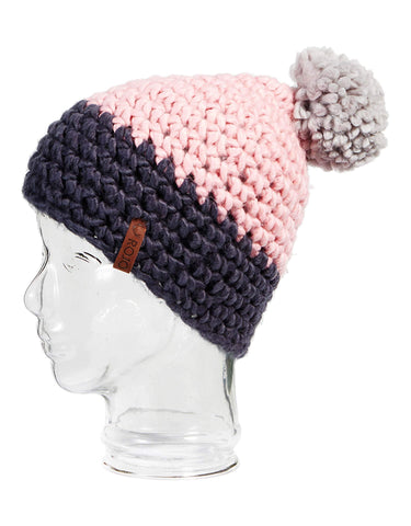 Image of Rojo Twin Tip Womens Knitted Beanie-Shadow Pink-aussieskier.com