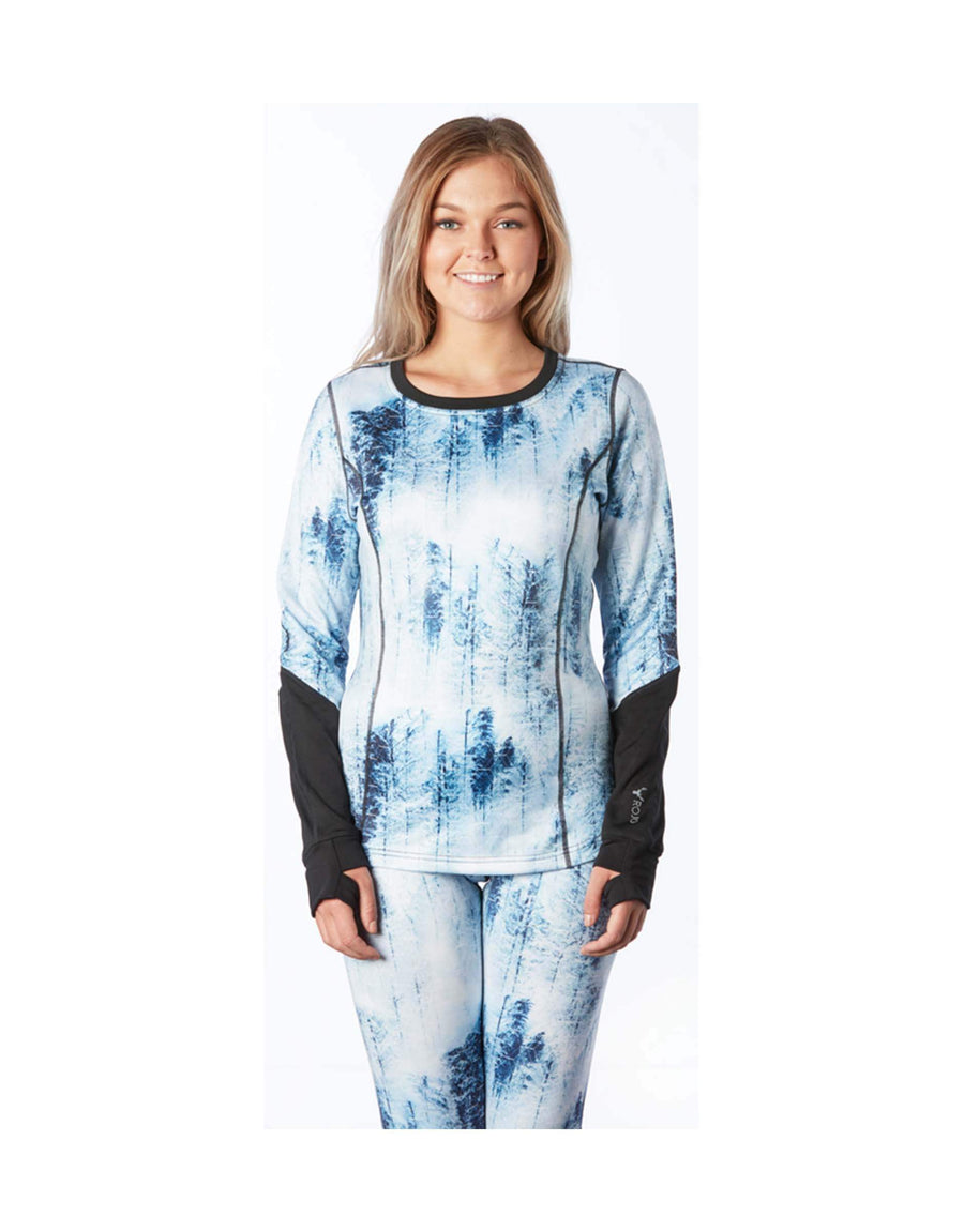 Rojo Womens Trail Crew Neck Base Layer Top-8-Tree Top-aussieskier.com