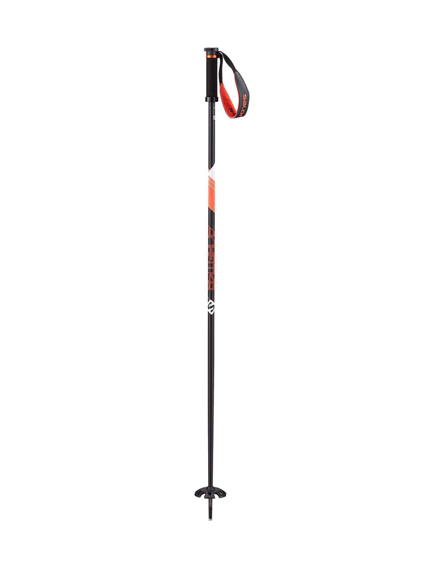 Salomon Brigade Ski Poles-105cm-Black / Orange-aussieskier.com