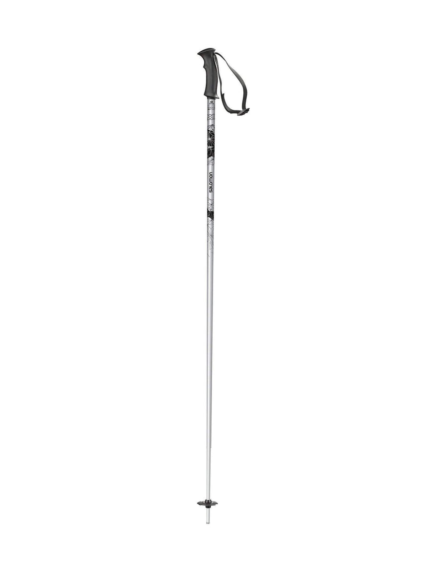 Salomon Northpole Womens Ski Poles-105cm-White-aussieskier.com