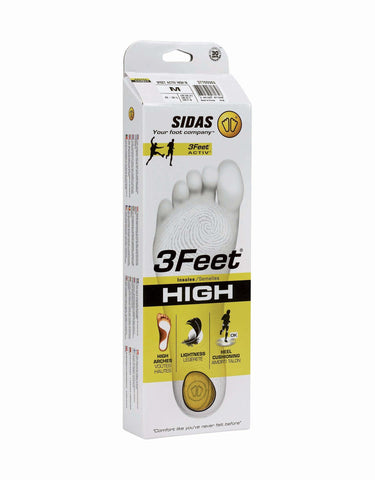 Sidas 3Feet Active High Prefabricated Insoles-aussieskier.com