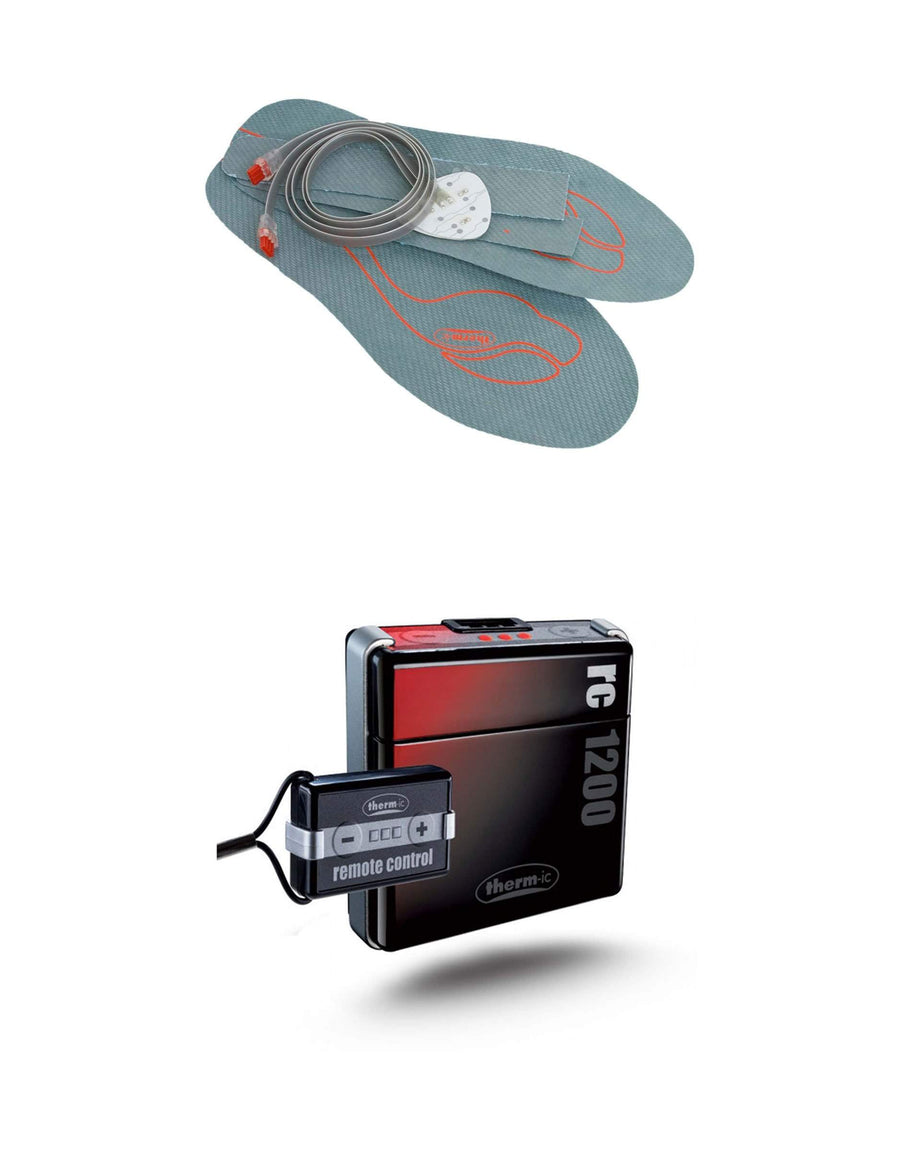 Therm-ic Heated Insole & Therm-ic RC 1200 Battery Package