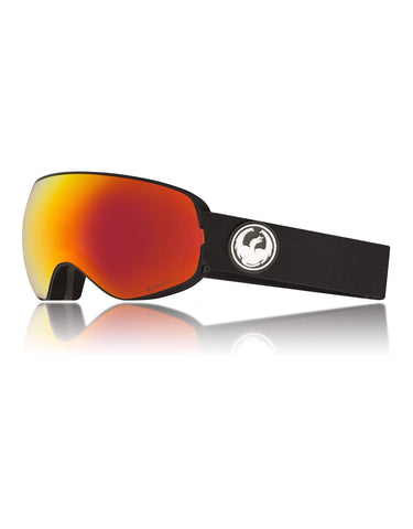 Dragon X2s Ski Goggles w/ Interchangeable Lens-Black / Lumalens Red Ion + Lumalens Rose Spare Lens-aussieskier.com