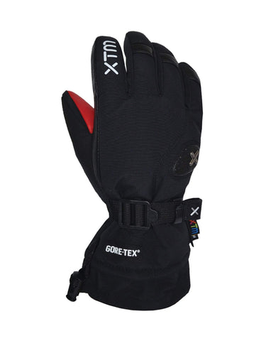 Image of XTM Aspen Kids Ski Gloves-X Small-Black-aussieskier.com
