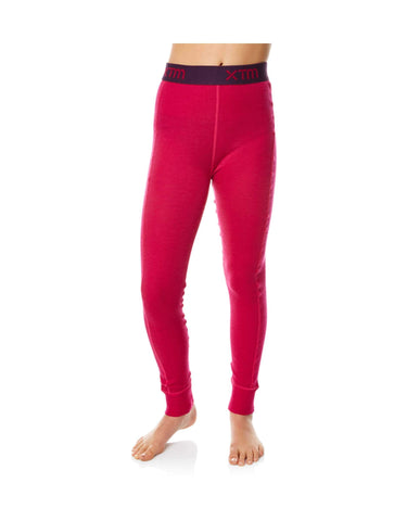 XTM Kids Merino Thermal Pants-4-Deep Pink-aussieskier.com
