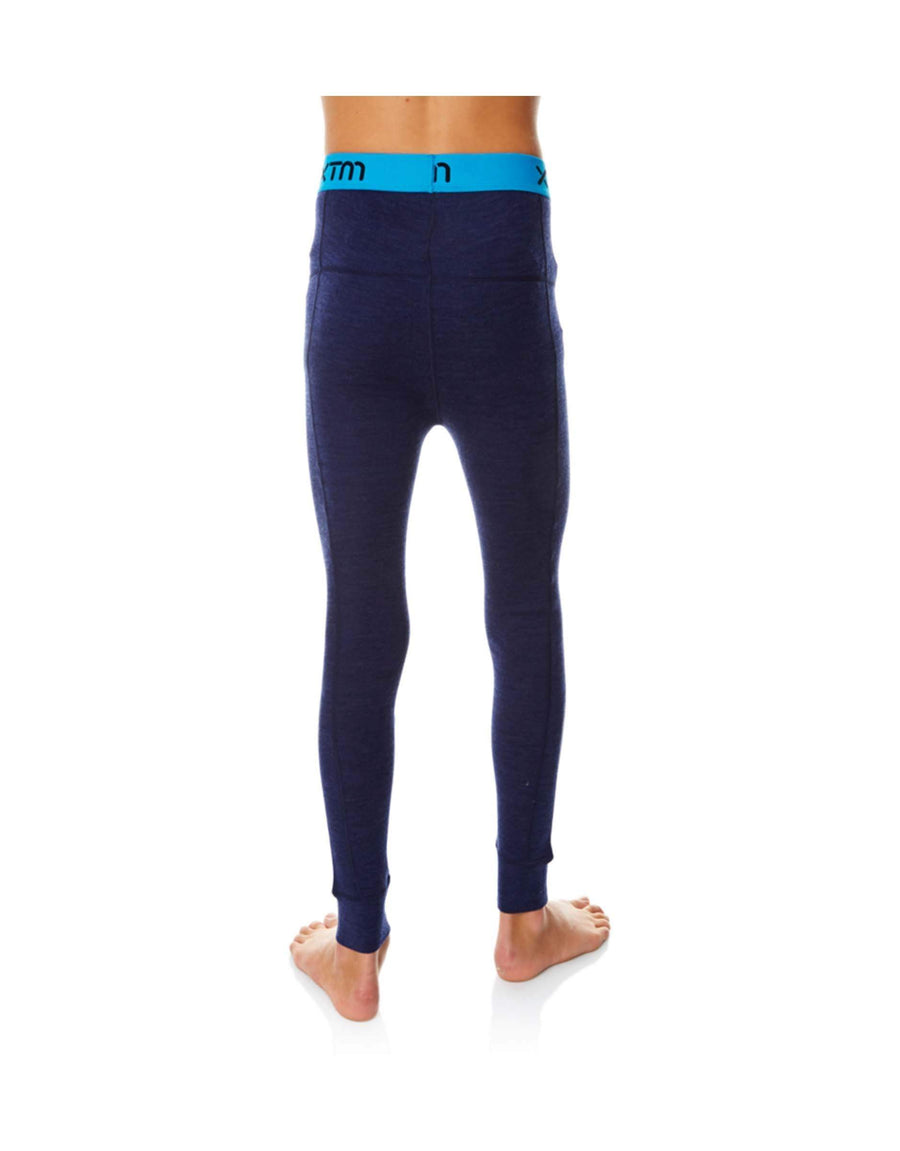 XTM Kids Merino Thermal Pants-4-Navy Marle-aussieskier.com