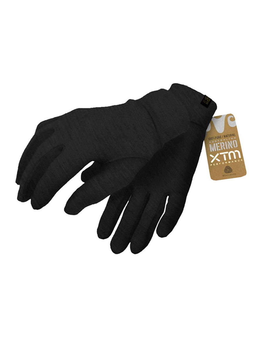 XTM Merino Inner Gloves-Small-Dark Grey-aussieskier.com