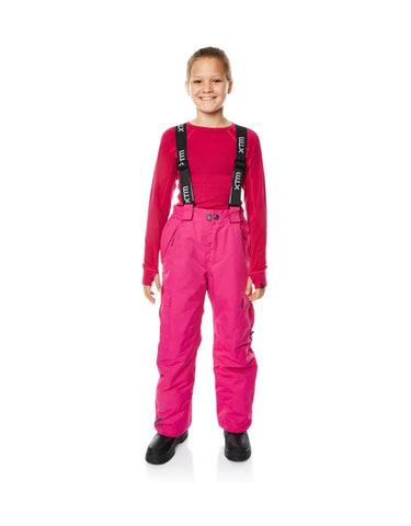 XTM Scoobie Junior Ski Pants-8-Hot Pink-aussieskier.com