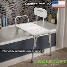 Load image into Gallery viewer, UncleCart® UPGRADED Fall Prevention Shower Bench - Maximum Safety