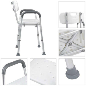 UncleCart® Fall Prevention Shower Chair - Adjustable Height