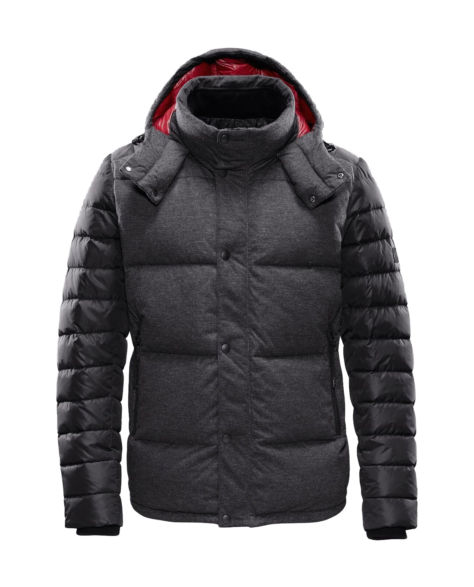 Bonded Wool Combo Down Jacket