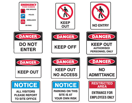 SHED SECURITY SIGNS