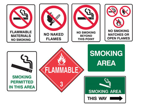 SMOKE & FLAME SIGNS