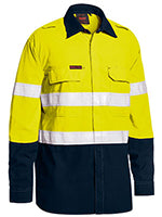 TENCATE TAPED TWO TONE HI-VIS VENTED LONG SHIRT