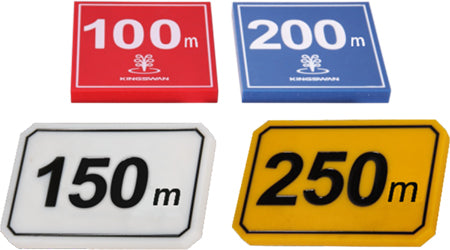 COLOURFUL PLASTIC FAIRWAY YARDAGE MARKERS