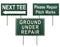 GREEN/WHITE LAMINATED PLASTIC SIGNS