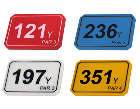 COLOURFUL TEE DECK YARDAGE MARKERS