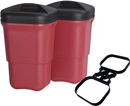 WASTE MATE DOUBLE TRASH RECEPTACLE + BRACKET