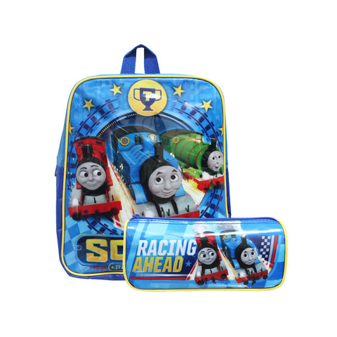 "Thomas & Friends Sodor Racing Friends 2in1 Stationery & Backpack 12"" 10-51-0006"