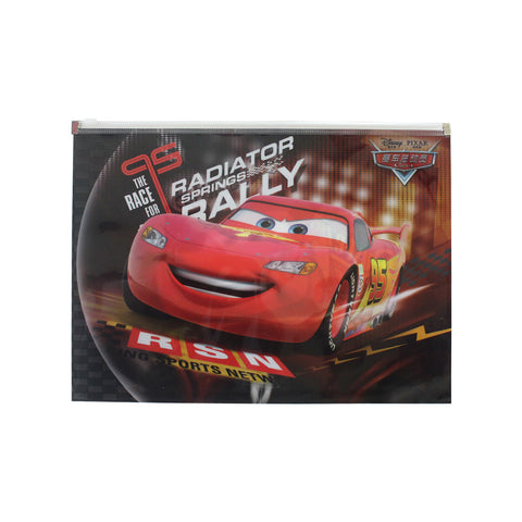 Cars The Race King File Holder with Zipper A4 Stationery 26-21-0008