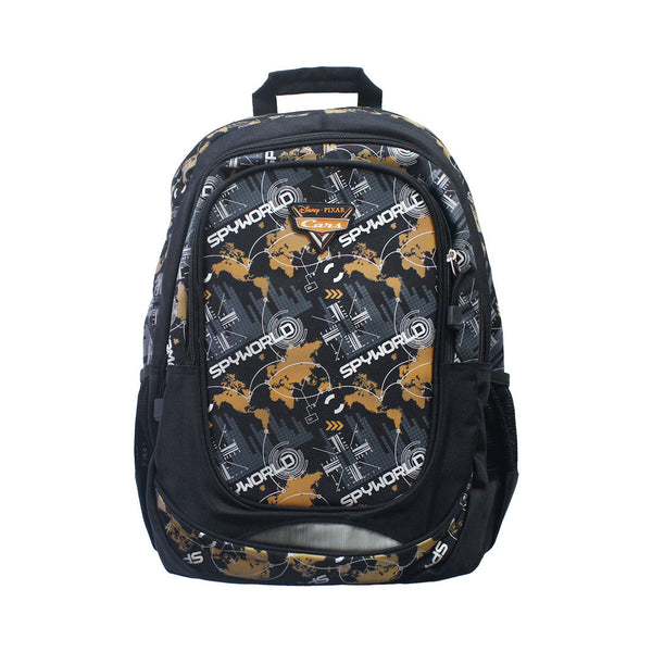 "Cars Black & Orange CG Backpack 16"" 26-71-0038"